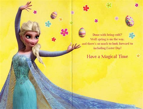 frozen printable greeting card disney frozen daughter easter greeting card cards love
