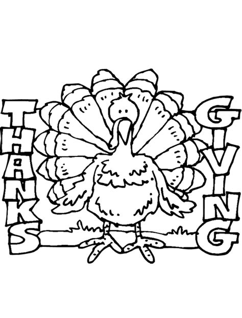 new thanksgiving turkey coloring page kids fun