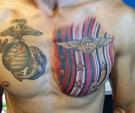 chest tattoo military man show cute army chest tattoo design photos and ideas