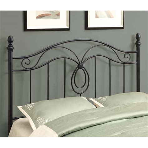 queen iron headboard only full queen metal slat headboard in black i 2622q