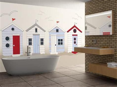 Bathroom Wallpaper Huts Huts Wallpaper Mural Would Make A Great