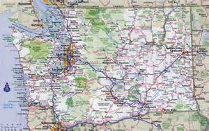 road map of state large detailed roads and highways map of washington state