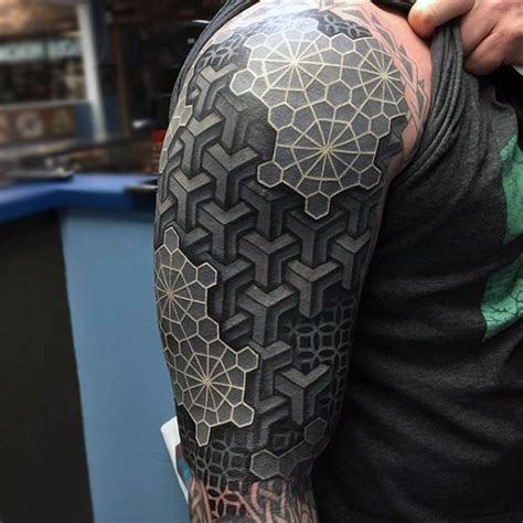 3d tattoo sleeve ideas 3d geometric tattoo sleeve tattooic