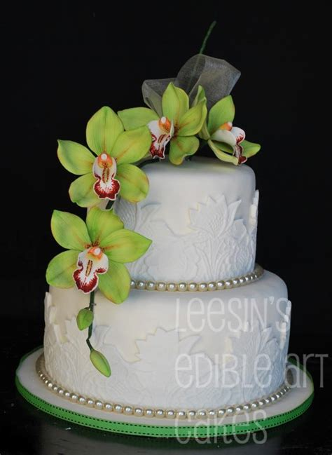 Hochzeitstorte Orchidee by Penang Wedding Cakes By Leesin Orchid Wedding Cakes