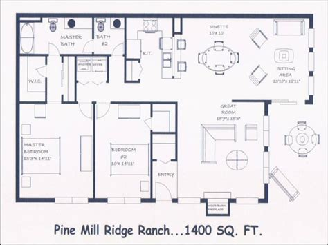ranch style floor plan bedroom design plans open floor plans ranch style house