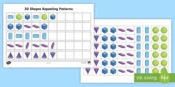 continuing patterns ks1 shape 3d shape patterns 3d shape pattens 3d shapes patterns