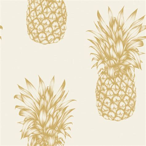 99 Home Design Furniture Shop by Arthouse Tropics Copacabana Pineapple Wallpaper Gold Black