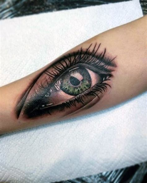 eye tattoo green 50 realistic eye tattoo designs for men visionary ink ideas