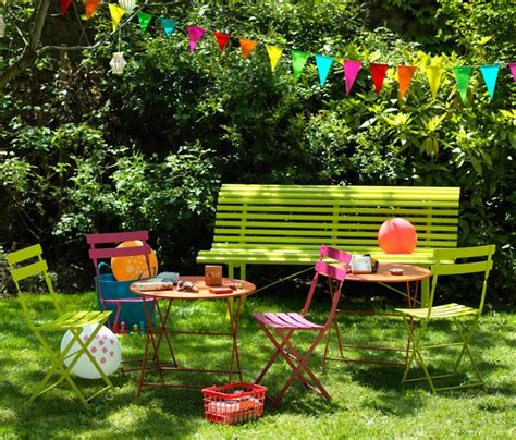 mobilier de jardin fermob tom pouce colourful outdoor designer metal table for children