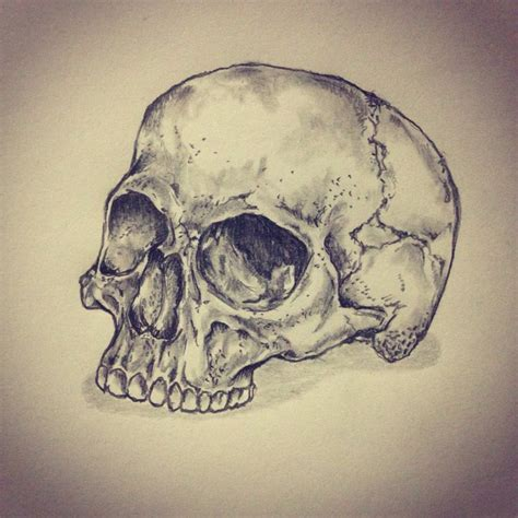 skull tattoo sketch drawing by ranz pinterest
