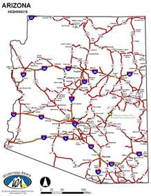 arizona county map with roads road map of arizona images