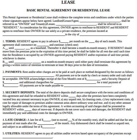 Lease Agreement Letter Sle Rental Agreement Letter 7 Documents In Pdf Word
