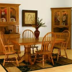 Oak Dining Room Furniture Sets Solid Oak Dining Room Set Marceladick