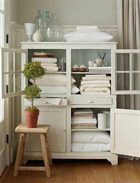 Vintage Linen Closet by Linen Closet Organization White Painted Vintage Linen