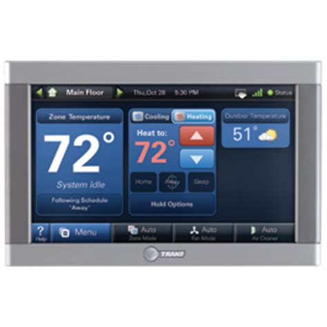 trane xl950 home automation center local heating