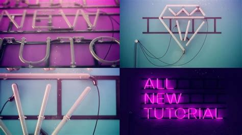 typography tutorial vimeo cinema 4 d amazing neon signs neon sign cinema 4d