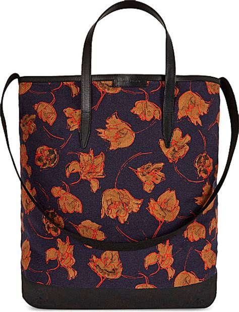 Guess Who The Dries Noten Purse by Dries Noten Floral Tote Bag For In Blue Navy