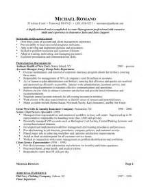 account manager resume sales