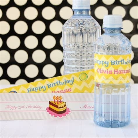 Drink With Label Custom personalized birthday drink labels