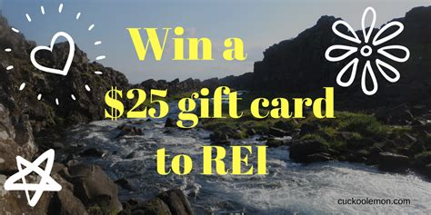 Rei Gift Card - giveaway win 25 to rei courtesy of xshadyside personal training cuckoolemon