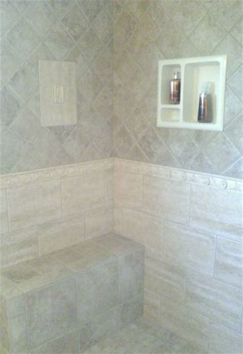 built in shower seat custom shower with built in seat and cubbie