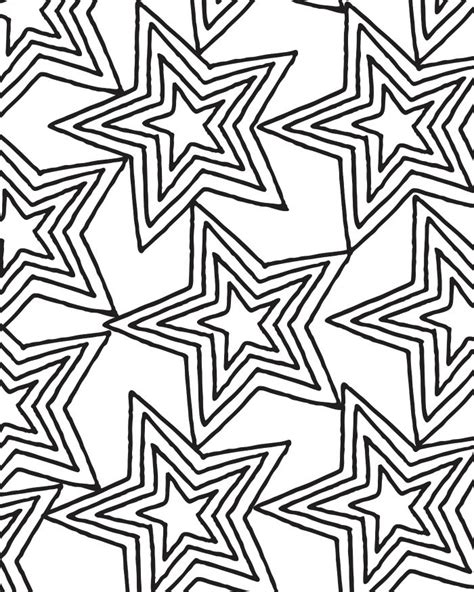 coloring pages for adults star printable star pattern coloring page for adults and kids