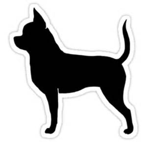 quot chihuahua silhouette quot stickers by jenn inashvili redbubble