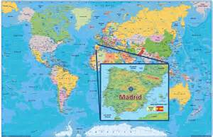 madrid spain on world map where is madrid on the world map