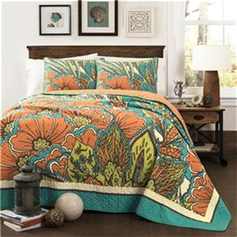 teal and orange bedding gorgeous teal blue orange green tropical floral leaf