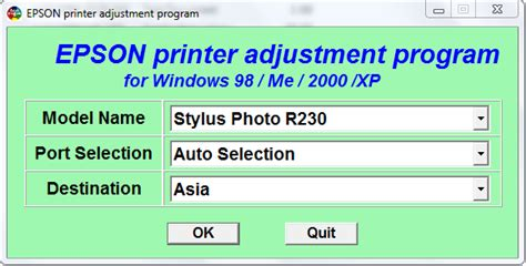 Resetter Adjustment Program Epson R230 | resetter adjustment program epson r230