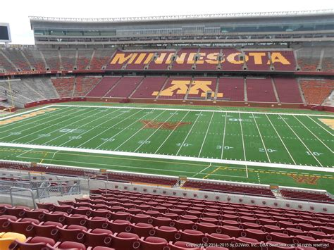 bank sections tcf bank stadium section 209 rateyourseats com