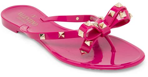 Valentino Bara Bara Jelly Shoes lyst valentino rockstud jelly sandals in pink