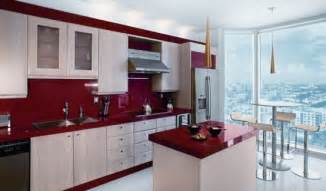 Red And White Kitchen Design delorme designs seeing red red countertops