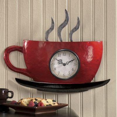 seventh avenue home decor cuppa joe wall clock from seventh avenue dw701564