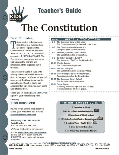 Ratifying The Constitution Worksheet Answers by Constitution Discover