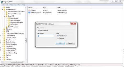 wallpaper regedit windows 8 1 cara merubah dan mengedit logon windows 7 cara tutorial