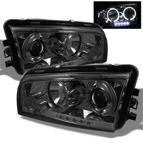 dodge charger parts 2009 2009 dodge charger smoked halo projector headlights