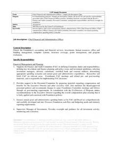 Administrative Officer Description by Chief Administrative Officer Description Sle