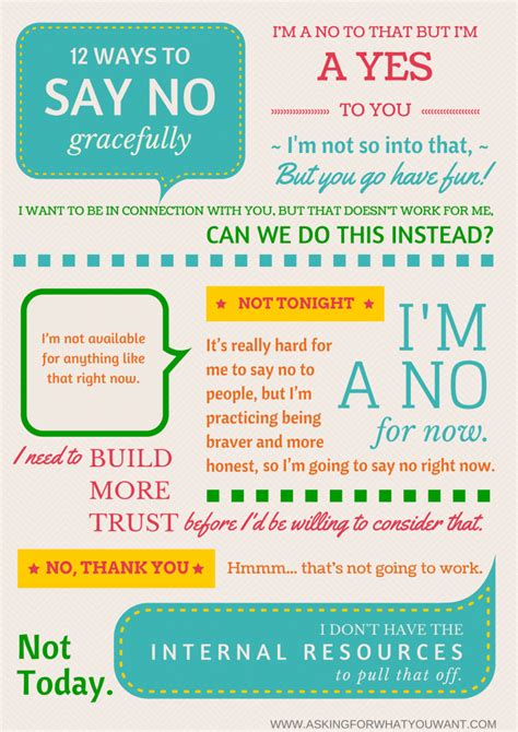 Say No Thanks 12 ways to say no gracefully without saying quot maybe later quot asking for what you want