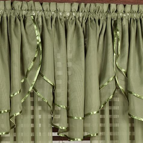 Ascot Valances Window Treatments Elegance Sheer Layered Ascot Valance