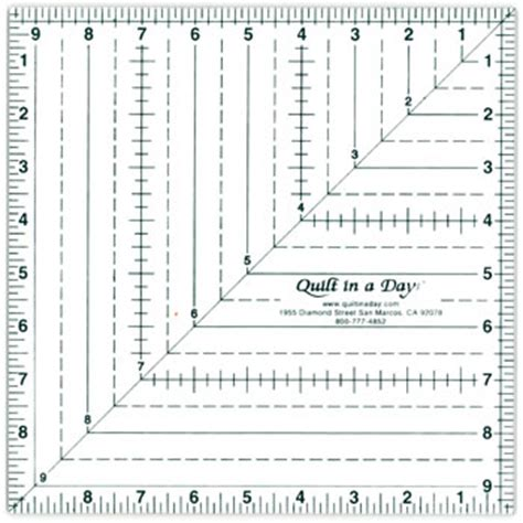 printable graph paper with ruler 9 5 square up ruler by quilt in a day 735272020127 rulers