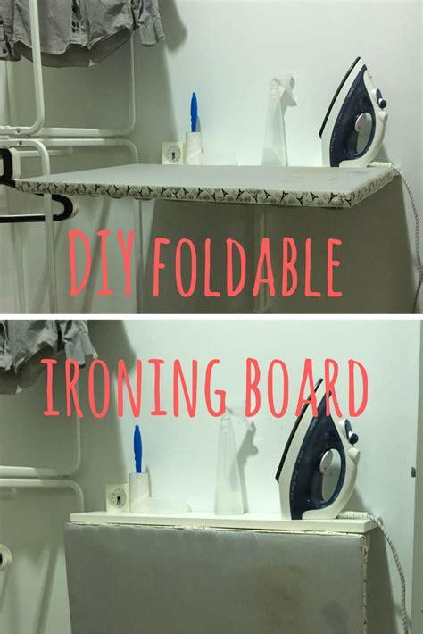 foldable ironing board in a space saving diy ironing board ikea hackers ikea