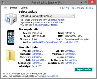 best iphone backup extractor iphone backup extractor 6 0 6 752 creating backup of