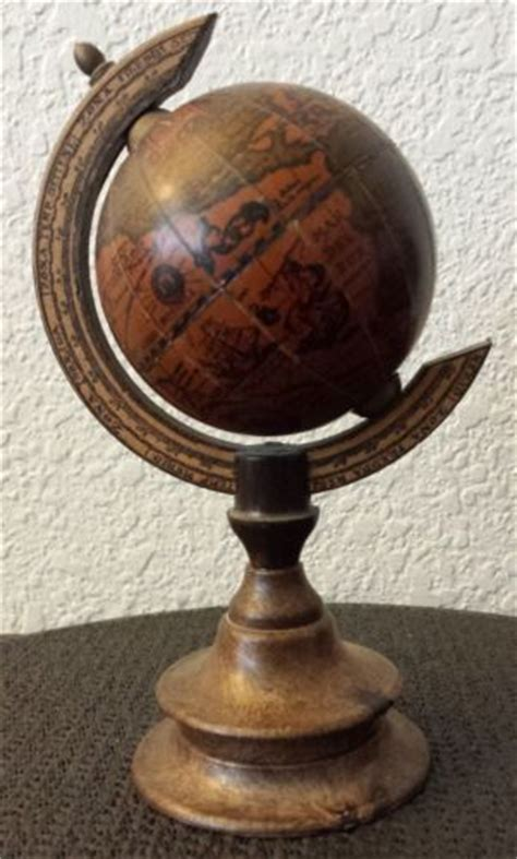 small desk globes small vintage italian wooden desk globe made in italy 7 1