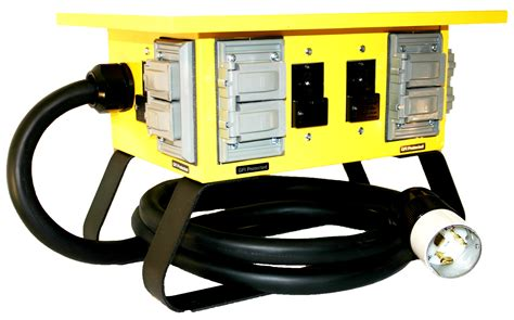 Portable Work Lights 30 50a 125 250v 4 Circuit Dead End Boxes Archives