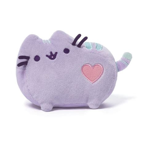 stuhlkissen pastell pusheen the cat pastel purple plush gund pusheen