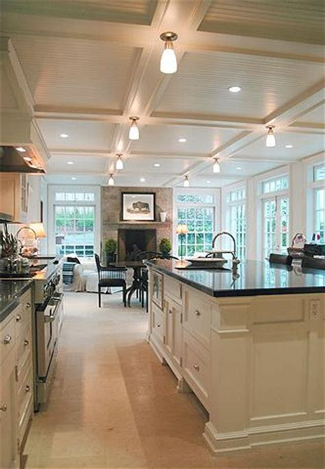 coffered ceiling in kitchen flickr photo