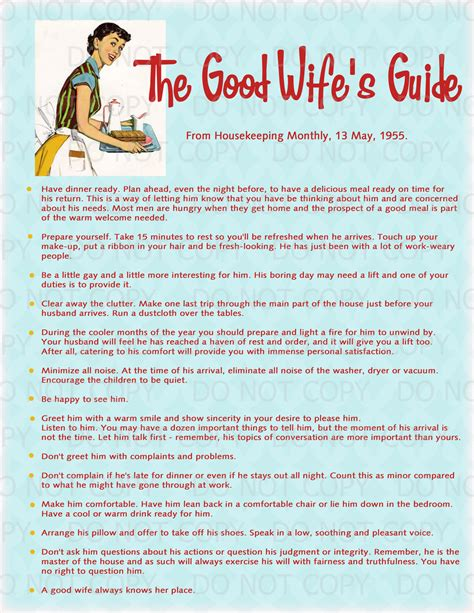 Good Housewife Guide printable retro housewife themed bridal shower display print