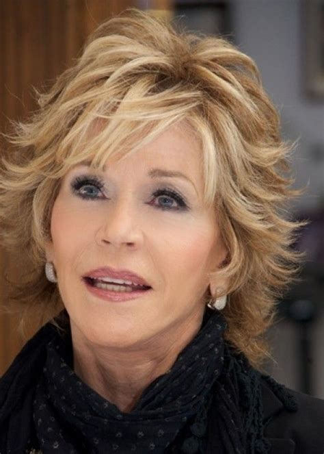 shag cut for over 60 jane fonda hairstyle hair styles pinterest short