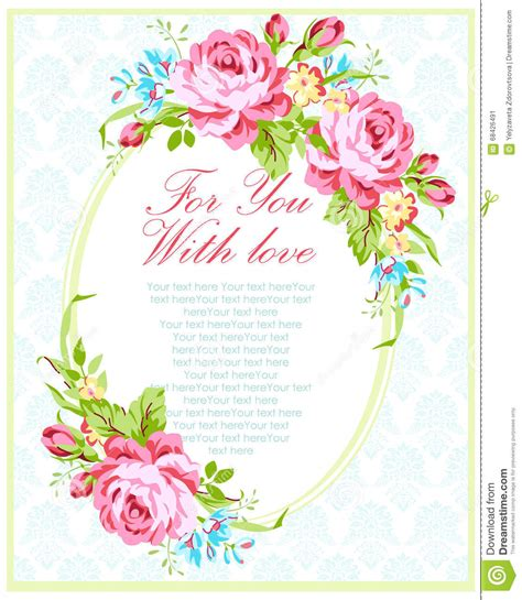 Garden Wedding Invitation Card Template by Wedding Invitation Card Template Stock Vector Image